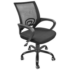 Black Pe Swivel Ergonomic Mesh Task Office Chair Desk Midback Seat W Metal Base