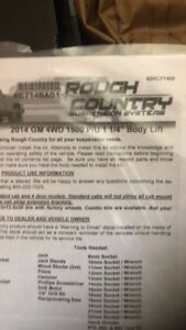 2014 2015 Chevrolet Gmc 1500 Pickup 1 25 Rough Country Combo Lift level