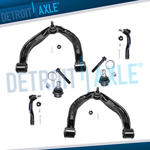 Front Upper Control Arm Ball Joint Outer Tie Rod For Nissan Titan Armada Qx56