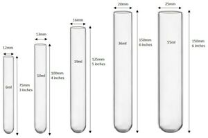 100 Count Borosilicate Glass Culture test Tubes