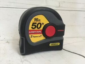 General Tools Tape Measure Laser Distance Measurer 50ft 16ft Tape