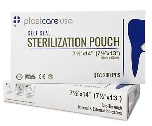 400 7 5 X 13 Self sealing Sterilization Pouch 2 Boxes Tattoo Dental Pouches