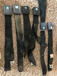 1969 Camaro Chevelle Black Seat Belts