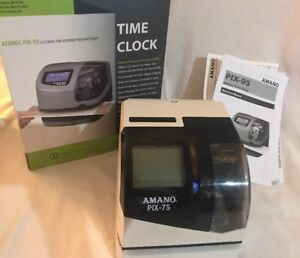 Amano Pix 95 Electronic Time Clock Time Recorder Date Stamp Brand New