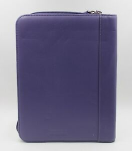 Levenger Soft Purple Leather Note Pad Card Holder Organizer New Without Box C