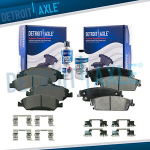 Front Rear Ceramic Brake Pads Kit For Avalanche Silverado Suburban Sierra 1500