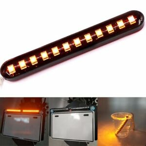 1pc Water Flowing 12led Strip Turn Signal Tail Light Amber 12v Car Motorcycle