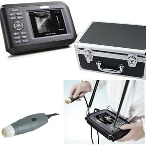 Portable Veterinary Ultrasound Scanner System Machine Animal Convex Probe Case