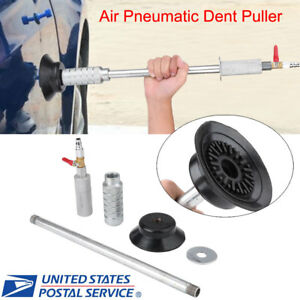 Auto Car Body Repair Air Pneumatic Dent Puller Suction Cup Slide Tool Hammer Kit