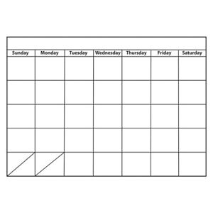 Big Monthly Calendar Large Magnetic Chart