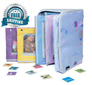 3 ring Binder Organizer For Kids 5 Pouches As Gift In Cute Zipper Fabric