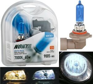 Nokya 7000k White 9005 Hb3 Nok7411 65w Two Bulbs Light Drl Daytime Replacement
