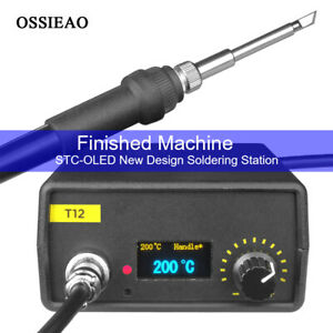 110v 220v Oled Digital Soldering Iron Station T12 Handle Finished Controller