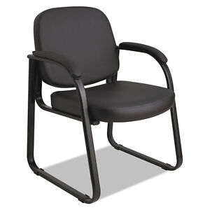 Alera Genaro Series Sled Base Guest Chair Black Vinyl
