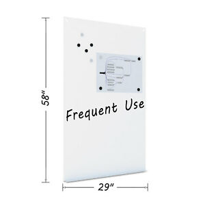 Magnetic Dry Erase Tile Board 38 1 2 X 58 White Surface