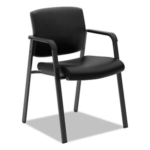 Vl605 Guest Chair Black Leather
