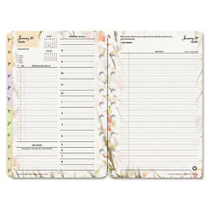 Blooms Dated Daily Planner Refill January december 5 1 2 X 8 1 2 2019