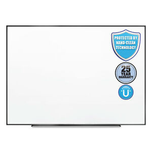 Fusion Nano clean Magnetic Whiteboard 48 X 36 Black Frame