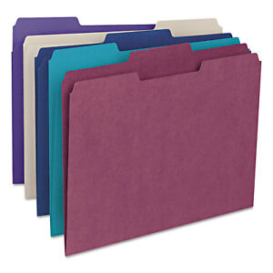 File Folders 1 3 Cut Top Tab Letter Deep Assorted Colors 100 box