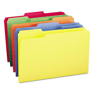 File Folders 1 3 Cut Top Tab Legal Assorted Colors 100 box