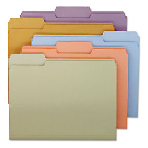 File Folders 1 3 Cut Top Tab Letter Assorted Colors 100 box