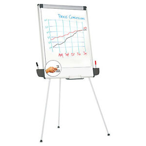 Tripod style Dry Erase Easel Easel 44 To 78 Board 29 X 41 White silver