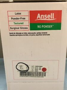Ansell 8605 Latex Powder free Surgical Gloves Size 7 5 Box Of 50 Pairs