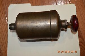 Vintage Hit Miss Large Brass Oiler Lubricator Reservoir Steam Punk Industrial