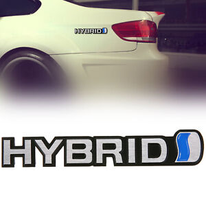 Aluminium Alloy Hybrid Car Body Rear Trunk Lid Emblem Badge Decal Sticker