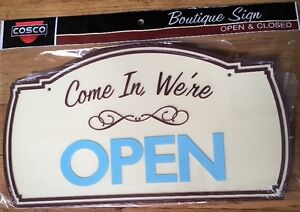 boutique Sign 2 Sided Come In We re Open Sorry We Are Closed