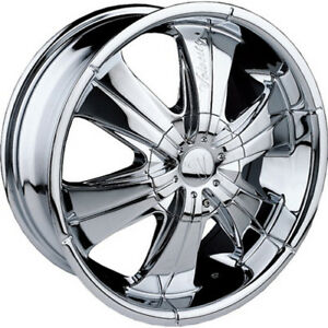 24x9 5 Chrome Velocity Vw166 Wheels 5x115 5x120 13 Lifted Fits Suzuki Xl 7