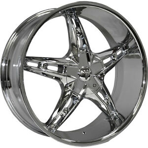 26x9 5 Chrome Velocity Vw930 Wheels 5x115 5x120 13 Lifted Fits Honda Pilo