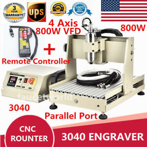 4 Axis 800w Cnc Router Engraver Machine 3040 Engraving Milling Vfd controller Us