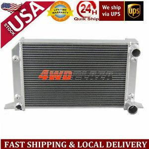2row 56mm 1 Tube Drag Racing Aluminum Radiator For Vw Scirocco Pro Stock Style
