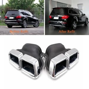 Exhaust Muffler Pipe For Mercedes Benz S Class Amg W222 S65 S63 Dual Tips Tail