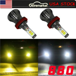 Dual Color 160w 880 881 6000k Super White 3000k Led Fog Light Driving Bulb Drl