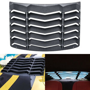 Rear Window Louver Shade Scoop Cover Hood Vent For 2010 2015 Chevrolet Camaro