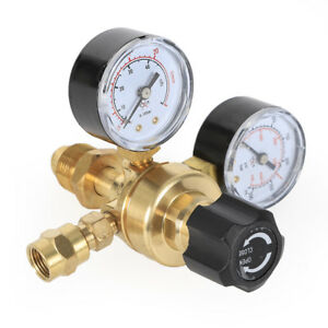 2 Double Gauges Pressure Reducer Mig Flow Meter Control Valve Welding Regulator