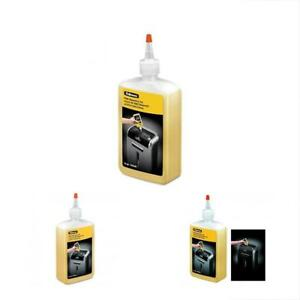 3 X Fellowes Shredder Oil 12 Oz Bottle With Extension Nozzle 35250 Gift New