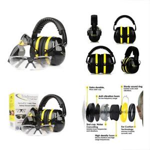 Hearing Protection Ear Muffs Shooting Range Gun Ear Plugs 2 Safety Glasses Gift