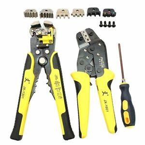 Paron Jx d4301 4 In 1 Ratchet Terminals Crimping Pliers Wire Strippers Tool Set