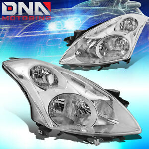 For 2010 2012 Nissan Altima Sedan Oe Chrome Housing Clear Side Headlight Lamps