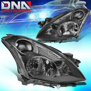 For 2010 2012 Nissan Altima Sedan Oe Black Housing Clear Side Headlight Lamps