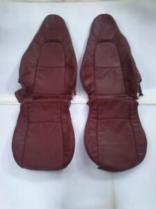 2001 2005 Mazda Miata Mx 5 Replacement Leather Seat Covers Maroon Burgundy