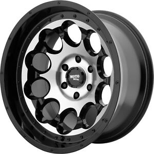 17x9 Black Machined Moto Metal Mo990 Rotary Wheels 8x6 5 12 Lifted