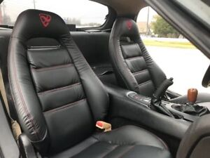 1993 1999 Mazda Rx 7 Fd 3s Replacement Leather Seat Covers Black With Logo