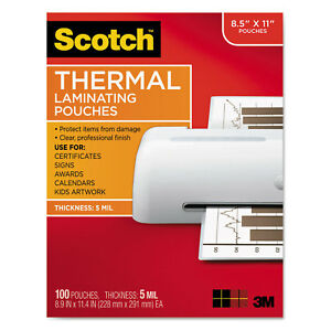 Letter Size Thermal Laminating Pouches 5 Mil 9 X 11 1 2 100 pack