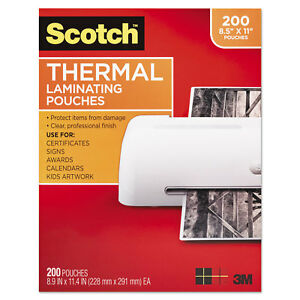 Letter Size Thermal Laminating Pouches 3 Mil 11 2 5 X 8 9 10 200 pack