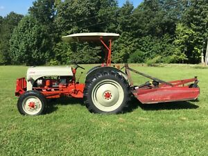 1952 8n Ford Tractor With Bush Hog Previously Restored