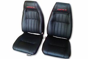 1979 1983 Datsun 280zx Replacement Leather Black Seat Covers With Logo